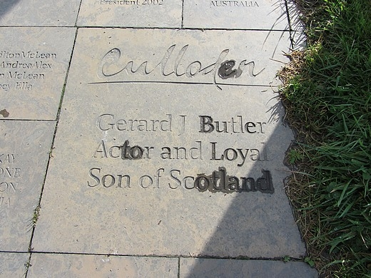 Gerald Butler, Walk of Stones