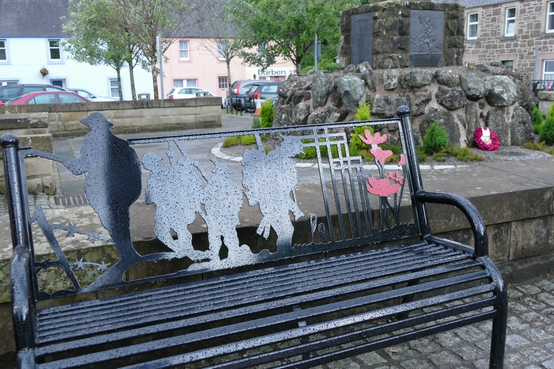 WW I Memorial bench, Callander
