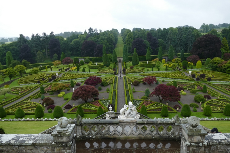 "Drummond Castle Gardens, aka ""Versailles"" on Outlander"
