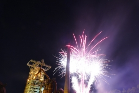 Fireworks at Industrial Heritage Site