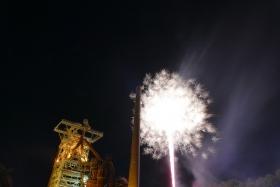 Fireworks at Industrial Heritage Site