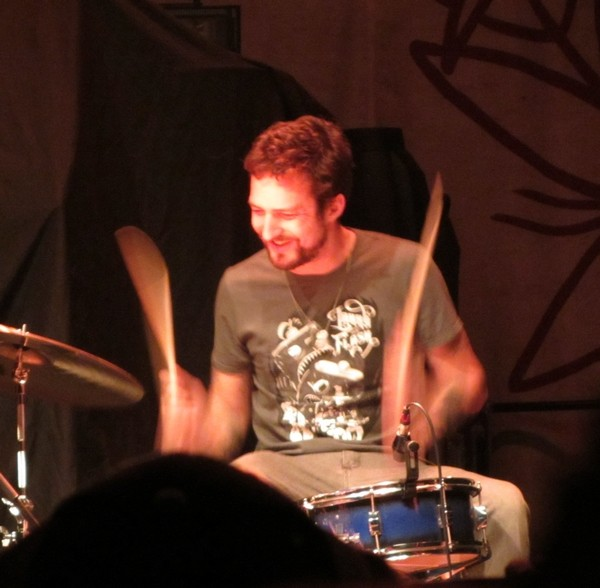 Frank Turner on the drums