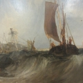 Close up of painting by J.M.W Turner