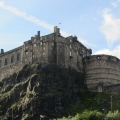 Edinburgh Castle, view from Johnston Terrace