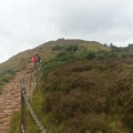 Hiking up Arthur's Seat