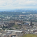 Edinburgh Castle and more, view from Arthur's Seat