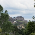 Edinburgh Castle, view from Royal Botanic Garden
