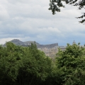 Arthur's Seat and Salisbury Crags, view from Royal Botanic Garden