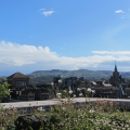 Edinburgh and beyond, view from roof terrace at National Museum of Scotland