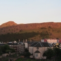 Arthur's Seat and Salisbury Crags in the evening sun