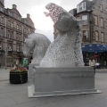 """Kelpies """"Minatures"""" Statue in Edinburgh"""