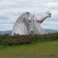Kelpies from a distance
