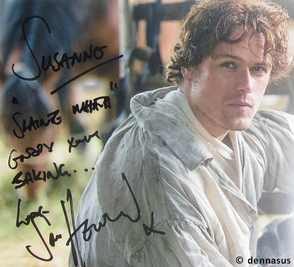 Sam Heughan Signed Autographed Photo Autographs-original